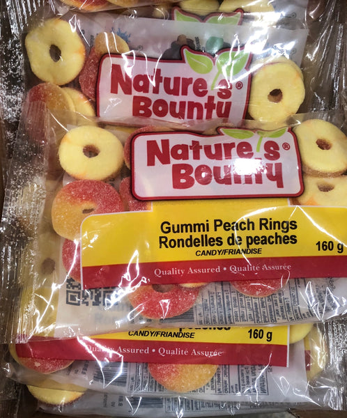 Gummi Peach Rings 160 - Unusual Finds Discount Store