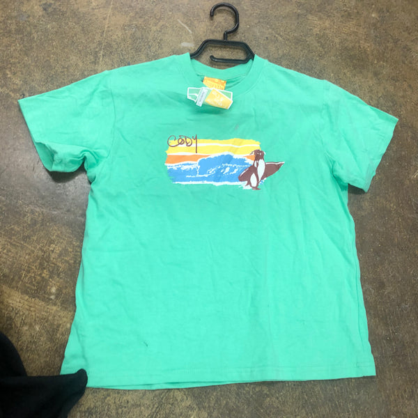 Copy of Surfs up GIRL T-SHIRT-Green-Xl - Unusual Finds Discount Store