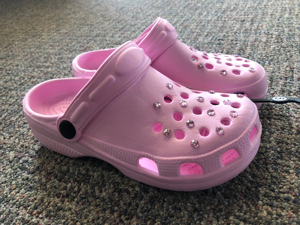 Clog Soft Pink Rhinestone - Unusual Finds Discount Store