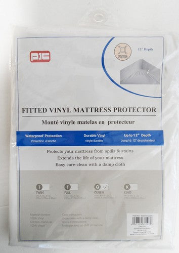 Vinyl Fitted Mattress Protector QUEEN - Unusual Finds Discount Store