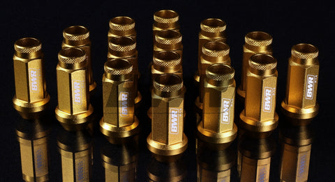 Blackworks Aluminum Lug Nuts - 12x1.25 - 20 pieces - GOLD