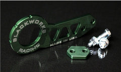 Blackworks Racing Billet REAR Tow Hook - GREEN