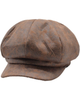 Bakerboy Cap Antique Brown Leather Look