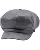 Bakerboy Cap Grey Leather Look