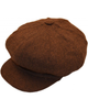 Bakerboy Cap  Brown Herringbone