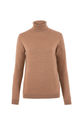 Merino Wool Roll Neck Jumper Camel