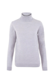 Merino Wool Roll Neck Jumper Light Grey