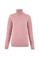 Merino Wool Roll Neck Jumper Dusky Pink