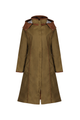 Eleanor Khaki Long Waterproof Coat