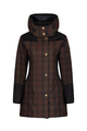 Odette Wax Check Waterproof Breathable Windproof Coat
