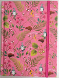 Notebook NZ Birds & Flowers Pink