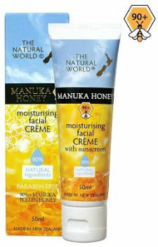 The Natural World - Manuka Honey Moisturising Facial Crème with Sunscreen 50ml