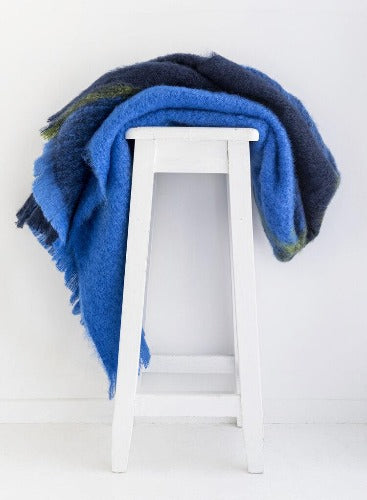 Windermere Mohair Blanket Designer Throw - Horizon
