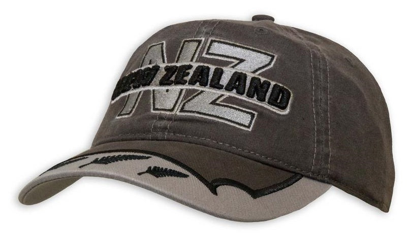 NZ and 3 Ferns Adults Grey Cap