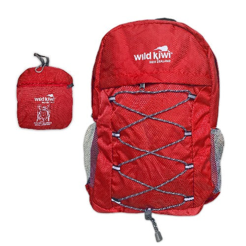 Wild Kiwi Packable Backpack - Red