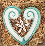 Ceramic Pacific Mint Heart