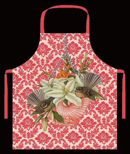 Apron with Fantail and Flowers