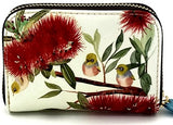 Card Holder Purse - Wax-eye & Pohutukawa