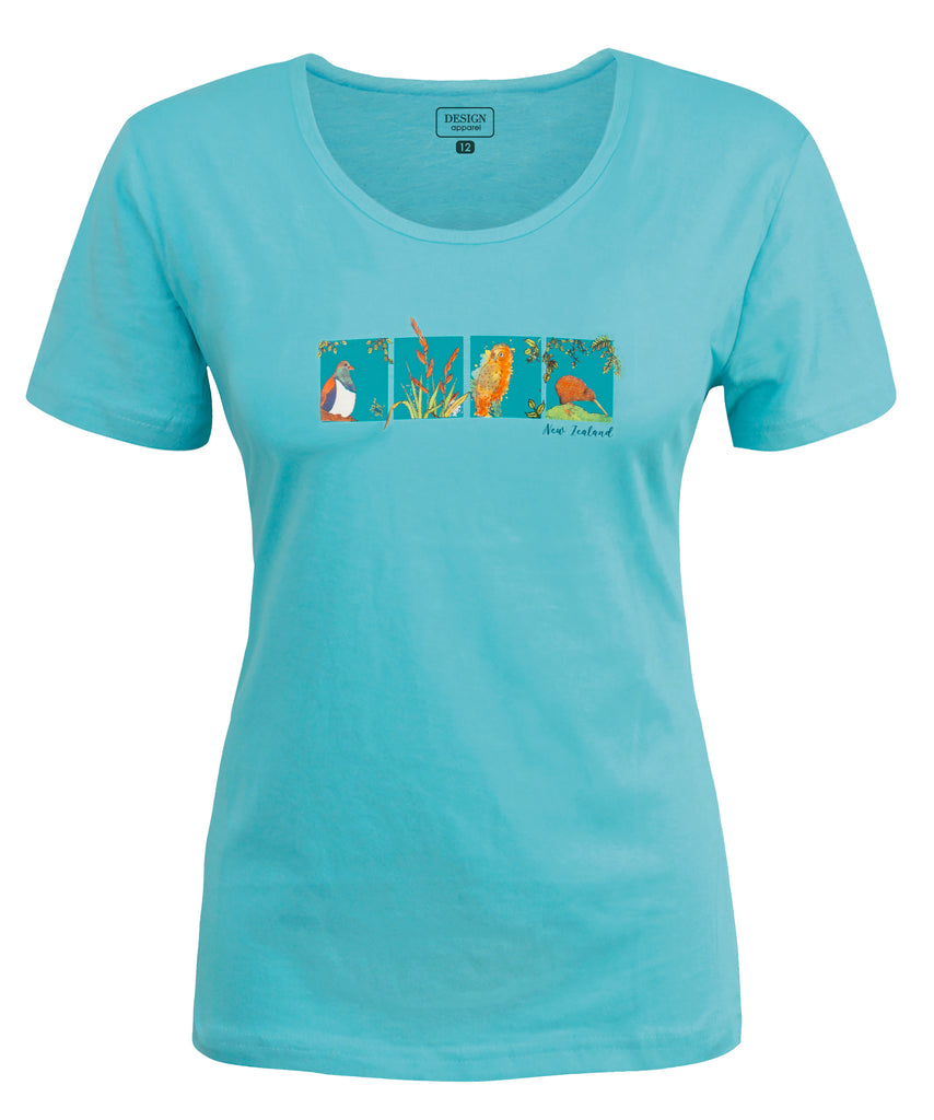 Ladies Fitted Nature's Garden T-Shirt