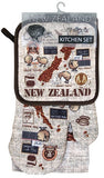 3 Pack Kitchen Set Coffee Kiwis