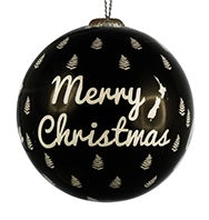 Christmas Bauble - Merry Christmas with Ferns