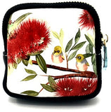 Coin Purse - Wax-eye & Pohutukawa