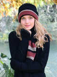 Lothlorian Possum & Merino Taupo Hat and Scarf - Dusk