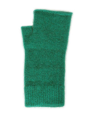 Lothlorian Possum & Merino Plain Fingerless Mitten, Emerald