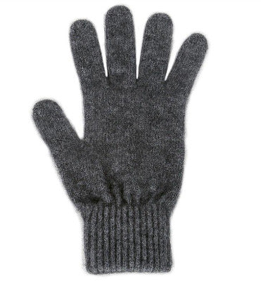 Lothlorian Possum & Merino Unisex Gloves, Charcoal/Grey