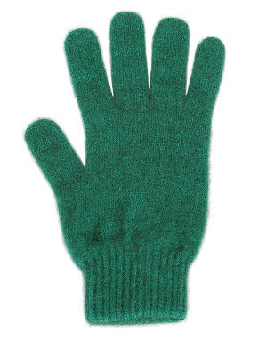 Lothlorian Possum & Merino Unisex Gloves, Emerald