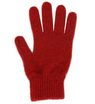 Lothlorian Possum & Merino Unisex Gloves, Red
