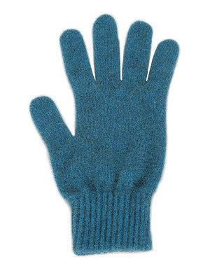 Lothlorian Possum & Merino Unisex Gloves, Teal