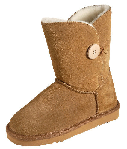 Ladies Button Boot - Mid Calf Sheepskin UGG Boots
