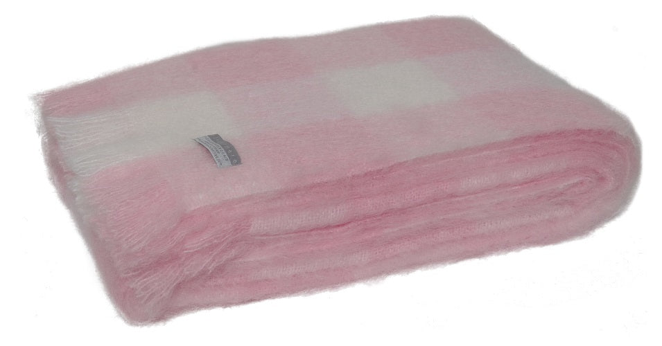 Windermere Mohair Knee Rug - Candy Check