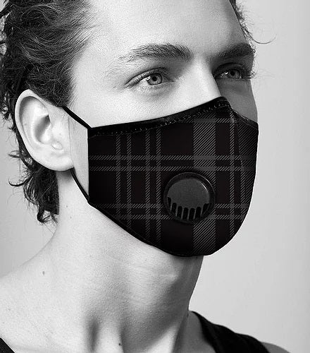 Face Mask Anti-Pollution - Fog Free - Check Pattern
