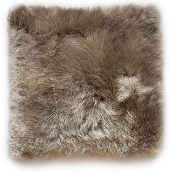 Sheepskin Cushion Cover - Taupe