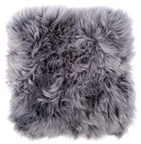 Sheepskin Cushion Cover - Dark Grey