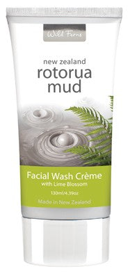 Wild Ferns Rotorua Mud - Facial Wash Creme with Lime Blossom 130ml