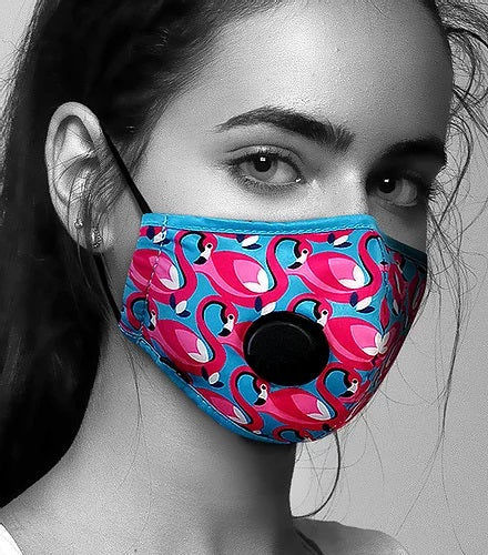 Face Mask Anti-Pollution - Fog Free - Flamingo Pattern