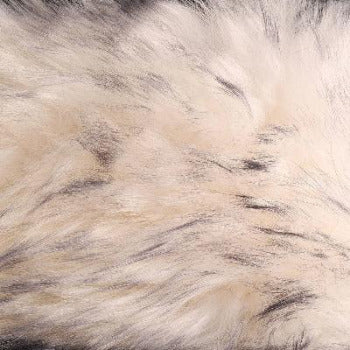 Single Large Sheepskin Rug - White With Black Tip
