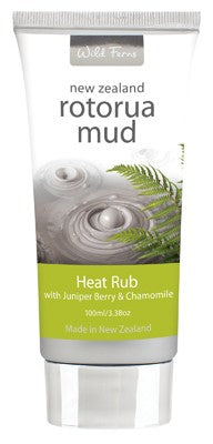 Wild Ferns Rotorua Mud - Heat Rub with Juniper Berry and Chamomile 100ml