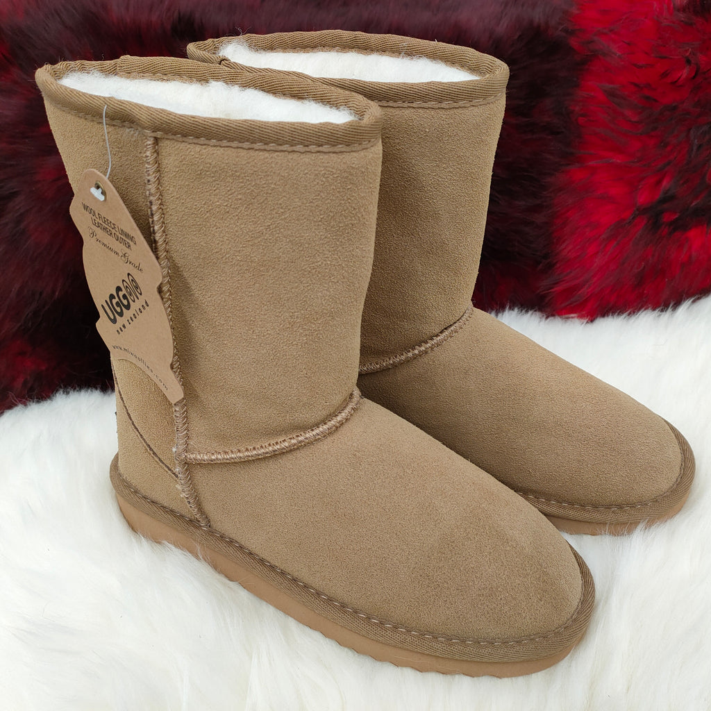 Ladies Punga Short UGG Boot -Walnut