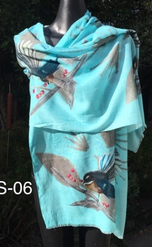 Fantail Turquoise Scarf