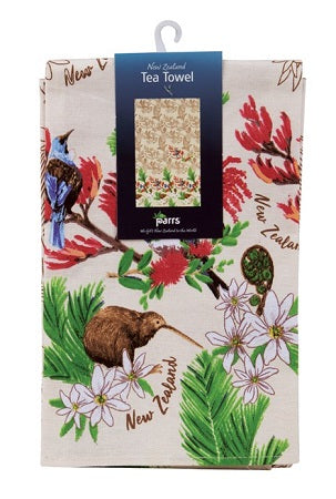 Tea Towel Birds Flower