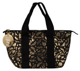 Thermo Lunch Bag - Black with Gold Birds