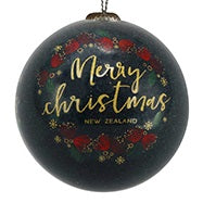 Christmas Bauble - Merry Christmas with Pohutukawa
