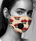 Face Mask Anti-Pollution - Fog Free - Pohutukawa Pattern