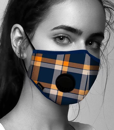 Face Mask Anti-Pollution - Tartan Pattern