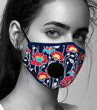 Face Mask Anti-Pollution - Fog Free - Windflowers Pattern
