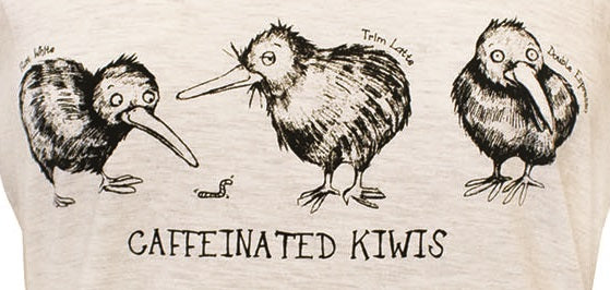 Ladies Fitted Caffeinated Kiwi T-Shirt